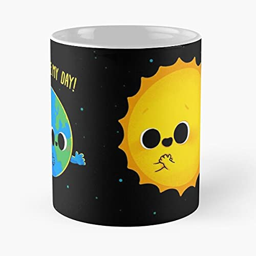 Taza de café con diseño de Star Stars Sees Earth Sun Planet Love It Mejor regalo