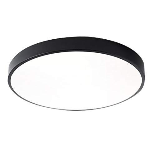 WDX plafondlamp, 18 W, 24 W, 36 W, 48 W, acryl, voor woonkamer, slaapkamer, kantoor, slaapkamer, LED, plafondlamp, wit licht, dimbaar, 3 kleuren, afstandsbediening, energiebesparend