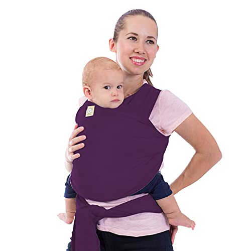 Baby Wrap Carrier - All in 1 Stretchy Baby Sling - Baby Carrier Sling - Baby Carrier Wraps - Baby Carriers for Newborn, Infant - Baby Holder Straps - Baby Slings - Baby Sling Wrap (Royal Purple)