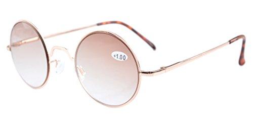 Eyekepper Federscharniere Runde Sonnebrille Braun Linse +0.75