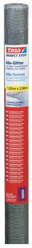 tesa Insect Stop Alu-Gitter Ersatzrolle für Fliegengitter - Mückennetz als Ersatzgitter für Fenster & Türen - Ersatz-Rolle 120 cm x 250 cm, anthrazit