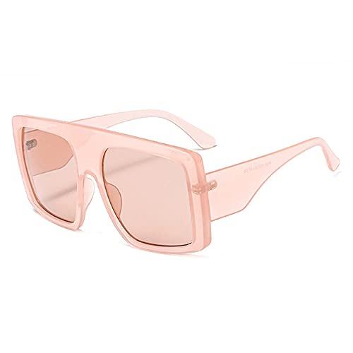 DLSM Gafas de Sol Femeninas Gafas de Sol Retro Sombras de Gafas UV400 Retro Gafas de Sol Deportes al Aire Libre Golf Ciclismo Pesca Senderismo Gafas-C7 Pink.Pink