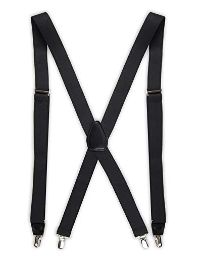 Dockers Men's Solid Suspender, Black, One Size