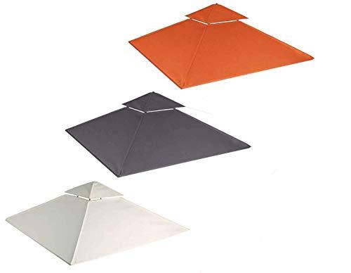 habeig Ersatzdach 340g/m² SPITZ Dach EXTRA STARK PVC Beschichtung Pavillondach Wasserdicht Pavillon ca 3x3m NEU (Beige #51)