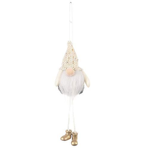Weihnachtsschmuck Strickmütze skandinavischer Weihnachtsmann Zwerg Tomte zum Aufhängen Weihnachtsbaum Kamin Heimdekoration