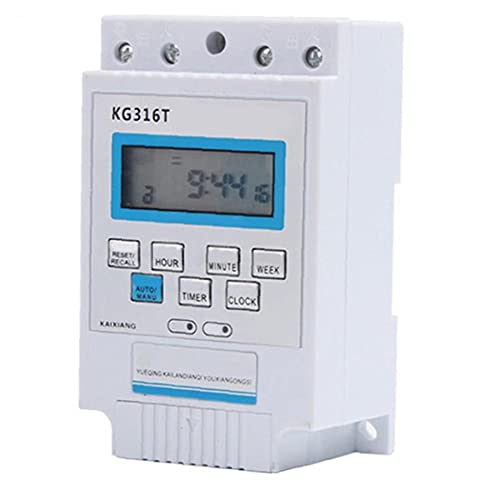 Sraeriot Interruptor De Temporizador Kg316t Controlador De Relé Electrónico 220v 10a Temporizador De Energía Programable Enchufe, Distribución De Energía Y Equipo De Control, Interruptores