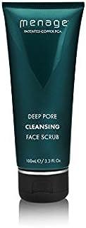 メナージュ深いポアクレンジングフェイススクラブ(100ミリリットル) x4 - Menage Deep Pore Cleansing Face Scrub (100ml) (Pack of 4) [並行輸入品]