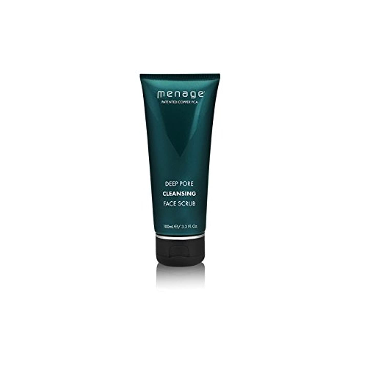 美人偶然のふさわしいメナージュ深いポアクレンジングフェイススクラブ(100ミリリットル) x4 - Menage Deep Pore Cleansing Face Scrub (100ml) (Pack of 4) [並行輸入品]