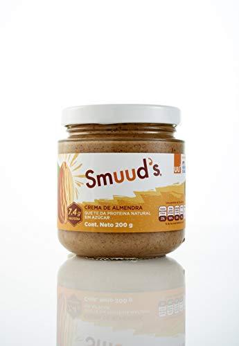 Crema de Almendras Sin Azúcar Añadida, Keto Snacks SMUUD´S Crema de Almendra, Envase de 200g