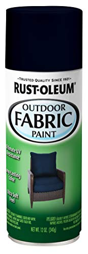 Rust-Oleum 358832 Specialty Outdoor Fabric Paint, 12 oz, Navy, 12 Ounce