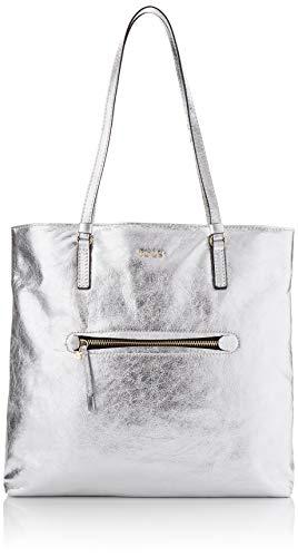 Tous Shopping L. Tulia Crack, Shopper para Mujer, Plateado (Plata), 34x33x13 cm (W x H x L)