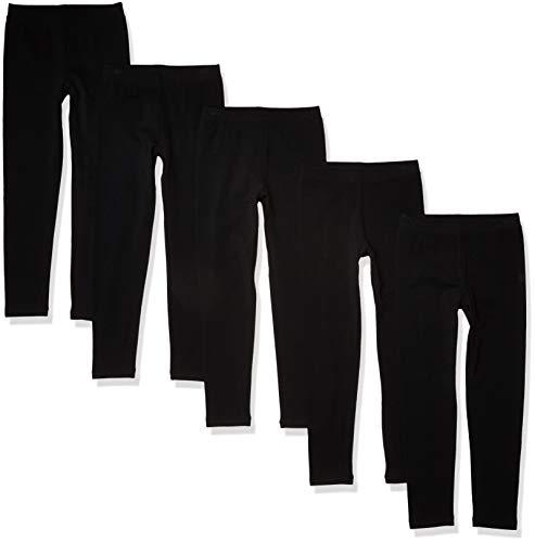 Amazon Essentials Girls' Big 5-Pack Legging, black, XL