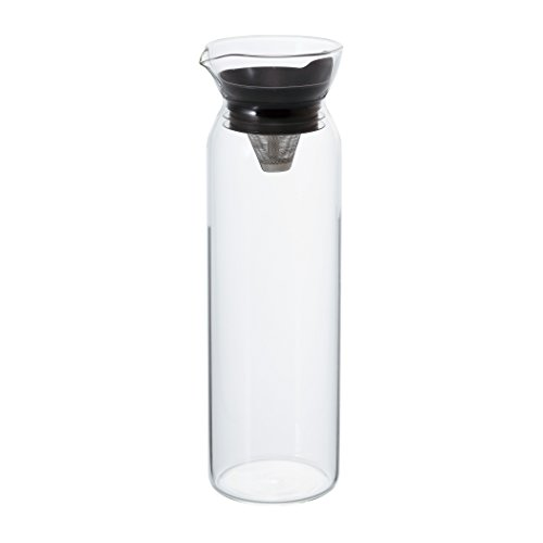 Hario FIP-90-B Brew Pitcher | Glass Cold Tea Infuser with Built in Filter, Black, 900ml