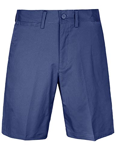 Men's Golf Shorts Relaxed Fit Cool Quick Dry Flat Front Tech Performance Chino Pants Size 32 Navy Blue