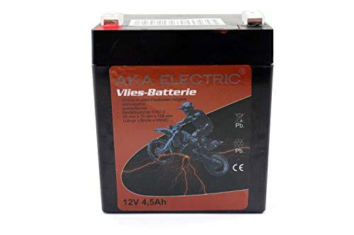Wartungsfreie AGM Batterie 12V 4,5 Ah für Simson, MZ, ETZ inkl. 7,50EUR Pfand