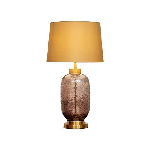 Bases para lámparas-HWenH La vida de la lámpara de habitaciones, lateral mesa redonda Mesa de noche de mano ligera de vidrio soplado Lámpara de mesa E27 Verde Violeta H: 68cm luces decorativas Multi-f