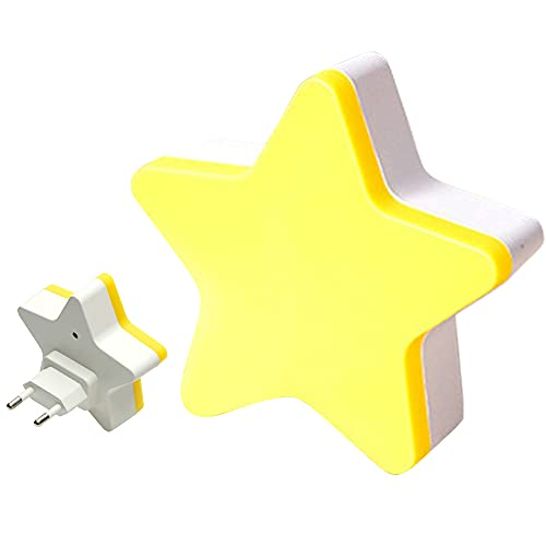 Iriisy luz nocturna infantil enchufe Pasillo luz de noche, [2 Pcs] Luz Nocturna LED, utilizada en la Habitación del Bebé, Niños, Dormitorio, Sala de estar, Pasillo, Baño, Cocina (amarillo)