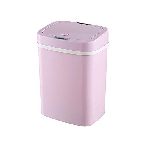 X&hui Automatische intelligente sensor prullenbak multifunctionele deodorant plastic rechthoekige badkamer keuken slaapkamer niet-contact met de batterij baby luier opslag emmer 12L, 16L