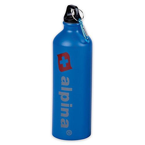 Alpina «simple bouteille de 750 ml avec mousqueton à Bleu