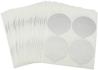 Fdit Lot de 100 couvercles jetables en aluminium résistant à la chaleur - Pour produits alimentaires et médicamenteux - Em...