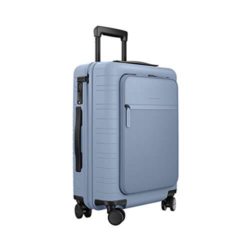 HORIZN STUDIOS M5 Handgepäck (33 L) mit integrierter, herausnehmbarer Powerbank und eingebautem Raumtrenner zur Komprimierung. Für Reisen 2-3 Tage. (Blue Vega)
