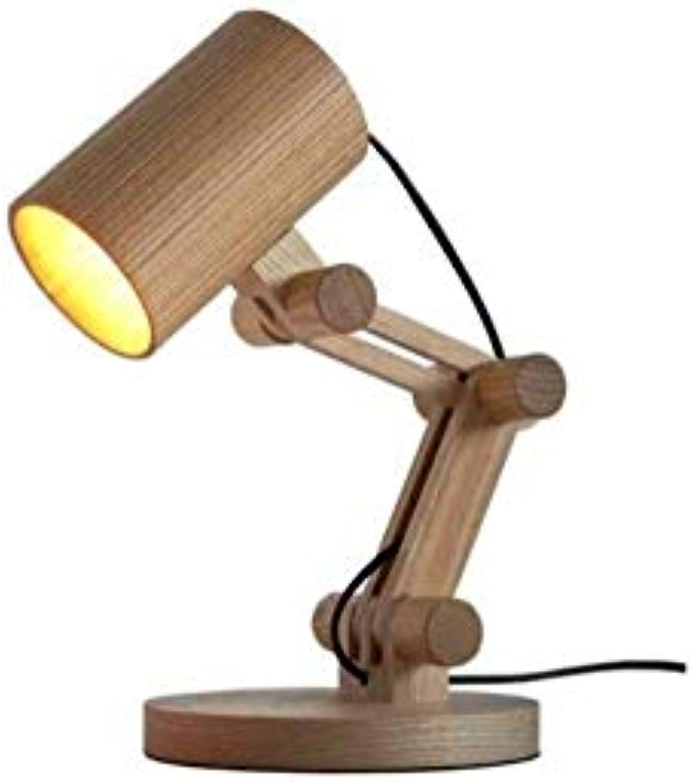 Schreibtischlampen aus Holz , Leseleuchte, tragbare Schreibtischlampe , Kinderaugenleuchten (Design  B)