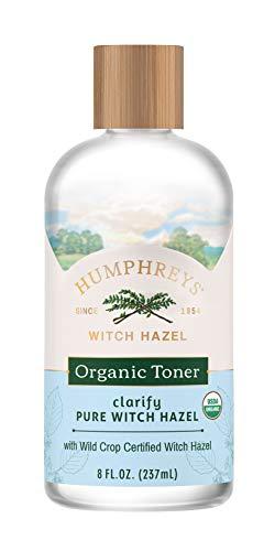 Humphreys Clarify Witch Hazel Organic Toner, Clear, 8 Oz