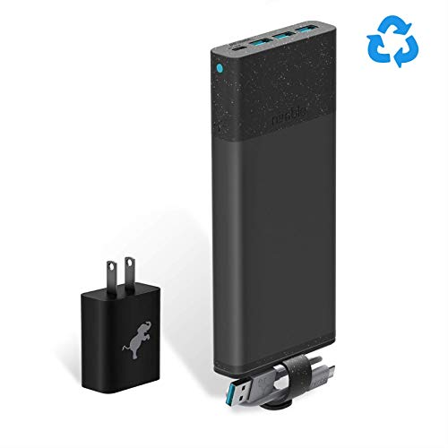 Nimble Eco-Friendly 10-Day Fast Portable Charger, 26,800 mAh QC 3.0 & 18W PD Fast Charge USB-C...