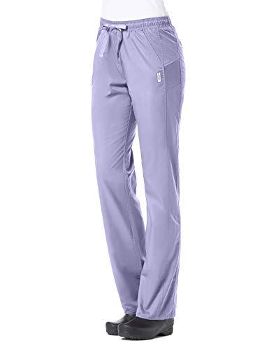 Maevn EON Active Sporty Mesh Panel Soft Scrub Pants (Large Petite, Lavender)