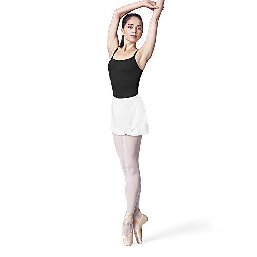 Bloch Dance Damen Vera Georgette Ballettrock, Damen, weiß, Einheitsgröße