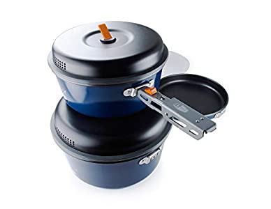GSI Outdoors, Bugaboo Base Camper, Nesting Cook Set, Superior Backcountry Cookware Since 1985, Large