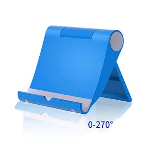 Yinaa Soporte para Telefono Soporte Tablet Multi-Angulo Soporte de Movil y Tableta Soporte Tablet Soporte Tablet - Soporte Base Ajustable Silicona Antideslizante Estable Azul Estandar