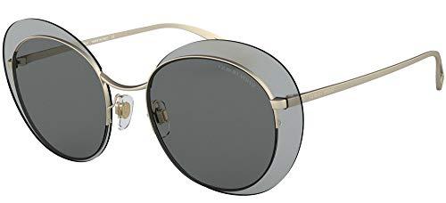 Armani GIORGIO 0AR6079 Gafas de sol, Matte Pale Gold, 52 para Mujer