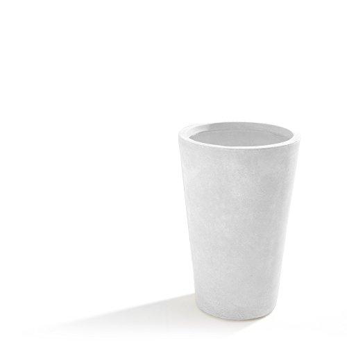 VERDELOOK Pot de jardin moyen Maxime, couleur blanc, dimensions 40 x 40 x (h) 61 cm.