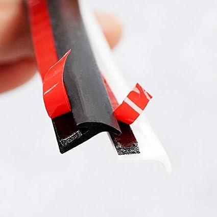 Color : 2 Meter Black 8mm Hcxh-A Universal Car Gummidichtungsband Slanted T-Typ Auto Seal Gummigummi Randstreifen schwarz for Frontsto/ßstange