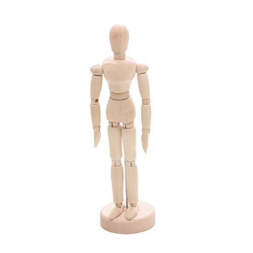 Maniquí de madera muñeca de madera del artista figura Modelo de la articulación de la mano con flexibles Posable Desmontes de Inicio del escritorio de oficina Decoración juguete 1pc M