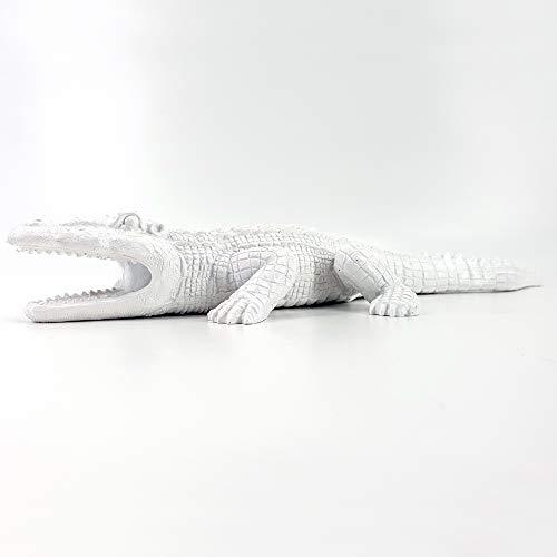 Unbekannt XL Deko Figur Krokodil Garten Teich Gartenfigur Alligator IMPRESSIONEN 41 cm