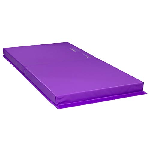 Z Athletic Landing Crash Mat Open Cell for Gymnastics, Tumbling, Martial Arts (Purple, 6ft x 3ft x 4in)