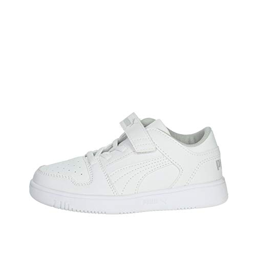 PUMA Rebound Layup Lo SL V PS, Sneaker, Bianco White-High Rise, 28 EU