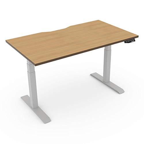 EFurnit Escritorio eléctrico ajustable de altura para oficina en casa, escritorio de roble – 120X80 (CM) Serie individual