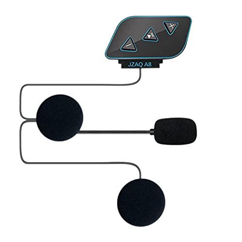 Deesen Casco de Moto 5.0 Auricular de Intercomunicador MicróFono para Auriculares de Moto Casco de Locomotora Auricular MicróFono Auricular
