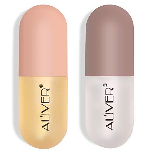 Natürliches Lip Plumper Set, Lip Enhancer, Lip Plumping Balm, feuchtigkeitsspendender klarer Lipgloss für vollere Lippen und hydratisierte Beauty Lips