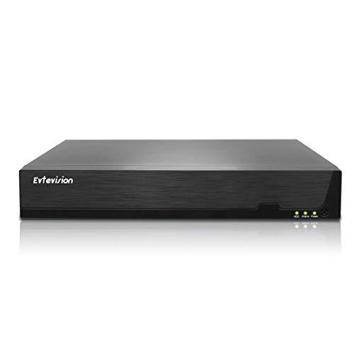 Evtevision 16 Canales NVR 5MP/4MP/3MP/1080p IP Grabadores de vigilancia con 8 Puertos PoE,Soporte Onvif/Vista remota/Alertas de Movimiento Inteligente,para Sistema de Seguridad en el Hogar(Sin HDD)