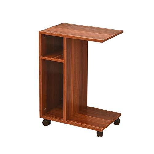Yxsd Tavolino da Salotto per Laptop Tavolino per Laptop con scaffale di stoccaggio Tavolino da caffè con Ruote in Legno