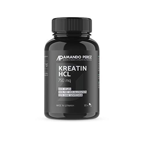 Buffered Creatine HCL - 750 mg - gepuffertes Kreatin HCL - 120 Kapseln -  hochdosiert - reines Hydrochlorid-Creatine