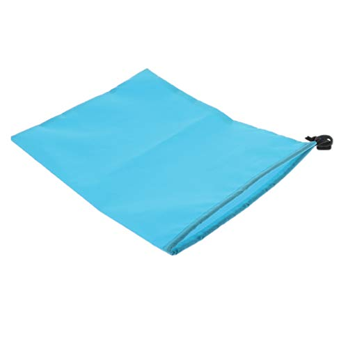 dailymall Waterproof Drawstring Storage Bag Stuff Bag for Clothes Shoes - sky blue