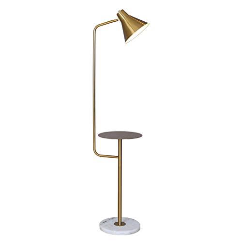 Lampes de chevet Lampadaire Salon Chambre en Métal Lampe De Table Basse Créative Nordic LED Lampadaire Vertical (Color : Gold, Size : 30 * 150cm)
