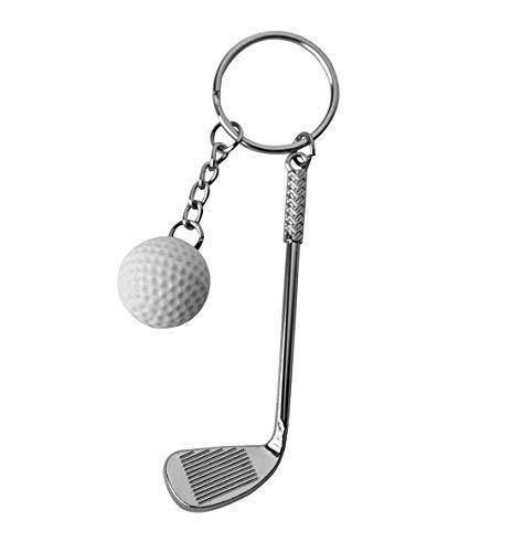 DonJordi Schlüsselanhänger Golfschläger mit Golfball - Das Geschenk für alle Golfspieler - Tolle Geschenkideen für Golfer