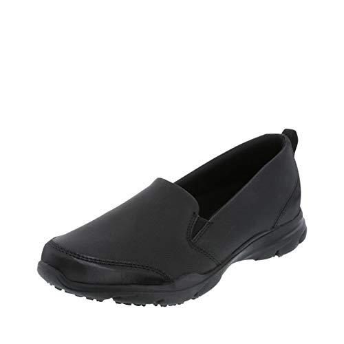 safeTstep Slip Resistant Women's Black Women's Camina Slip-On 8.5 Wide