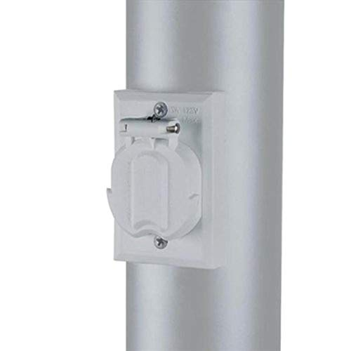 Acclaim 338WH Convenience Electrical Outlet Accessory for Lamp Post, Gloss White
